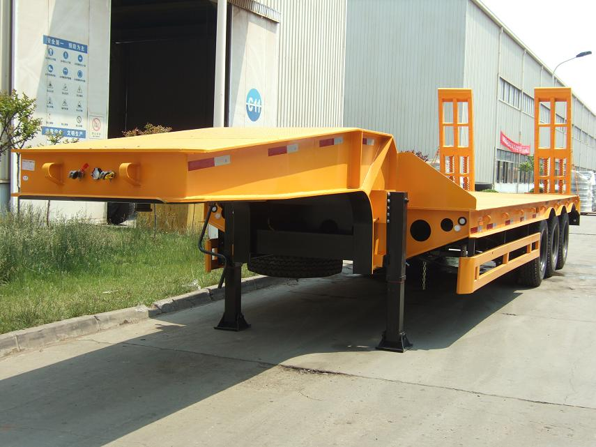 2 axle 3 axle100T Low Bed Semi Trailer
