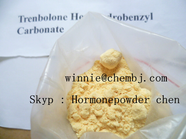 Anabolic Steroid Yellow powder Trenbolone Hexahydrobenzyl Carbonate