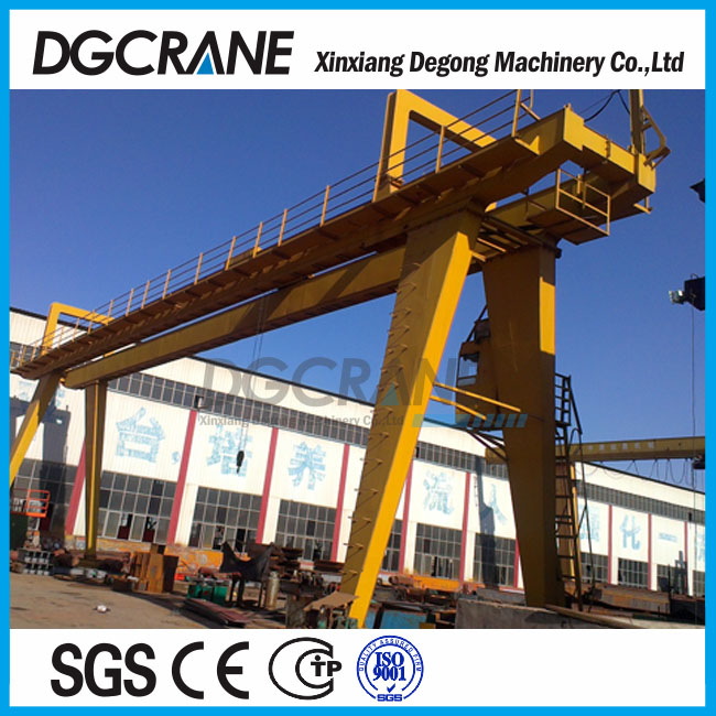32 ton double girder goliath crane with electric trolley