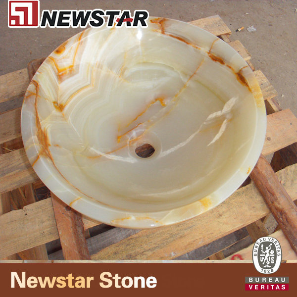 NSNOY007-Light-Green-Onyx-Round-Sink