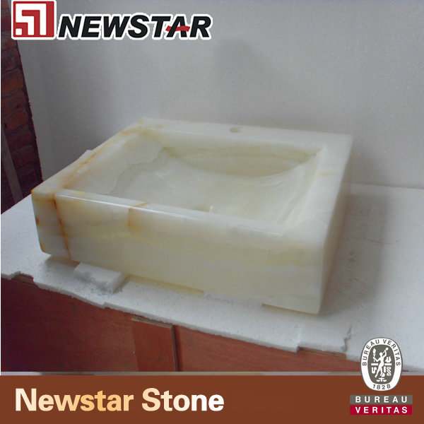 NSNOY007-Light-Green-Onyx-Square-Basin