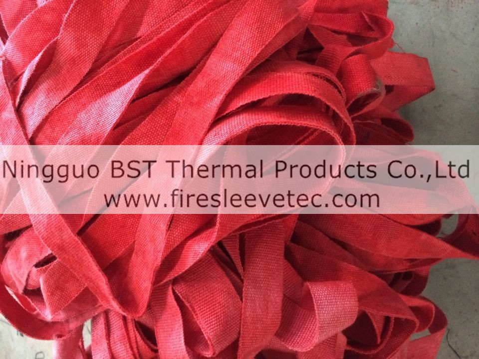 red colored fiberglass exhaust wrap