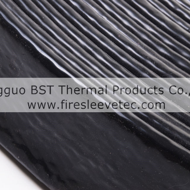 black colored silicone fiberglass braided fire sleeve