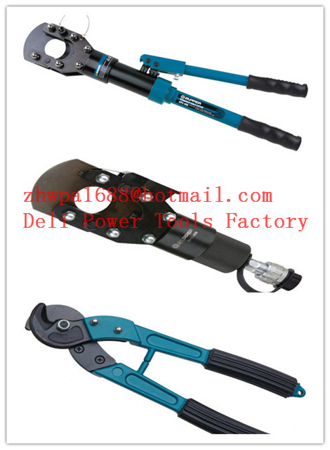 Cable cutter with ratchet system,Cable scissors