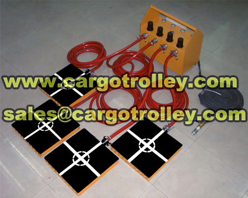 Air film transporters for moving and handling heavy duty loads safety