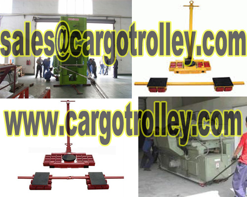 Load moving skates applied on moving heavy duty loads easily
