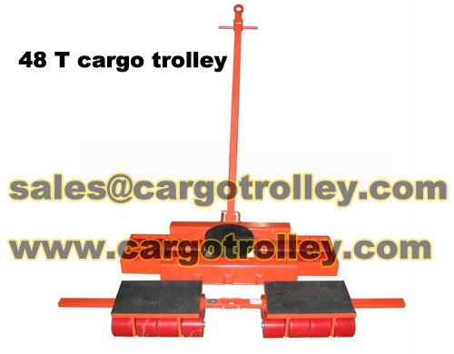 Steerable machinery skates also know as three point moving tools