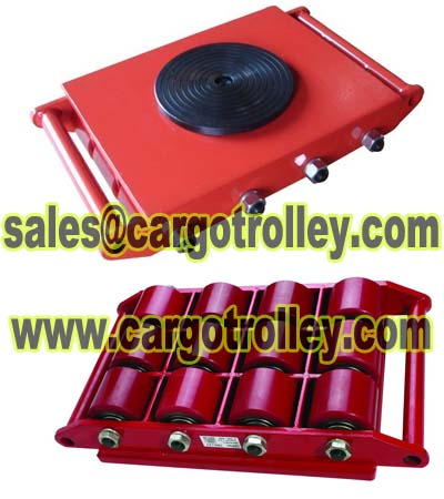 Industry transport trolley for heavy duty loads