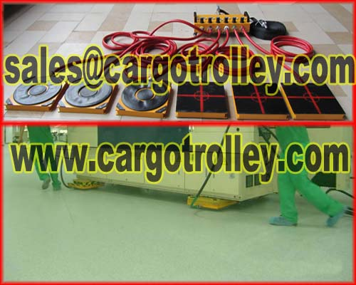 Air casters is save cost when moving loads