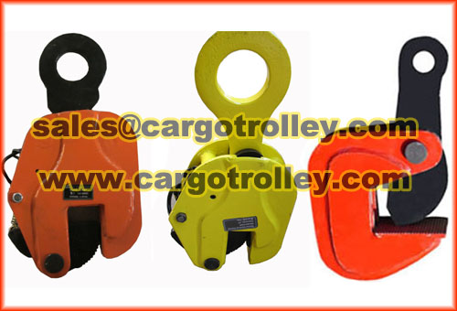 Lifting clamps for plates detailsLifting clamps for plates details