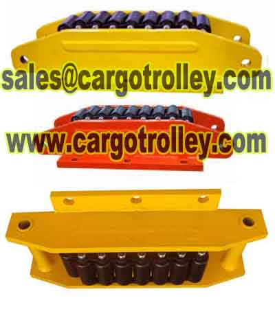 Load moving roller skids applications