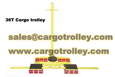 Transport trolleys applied on moving works
