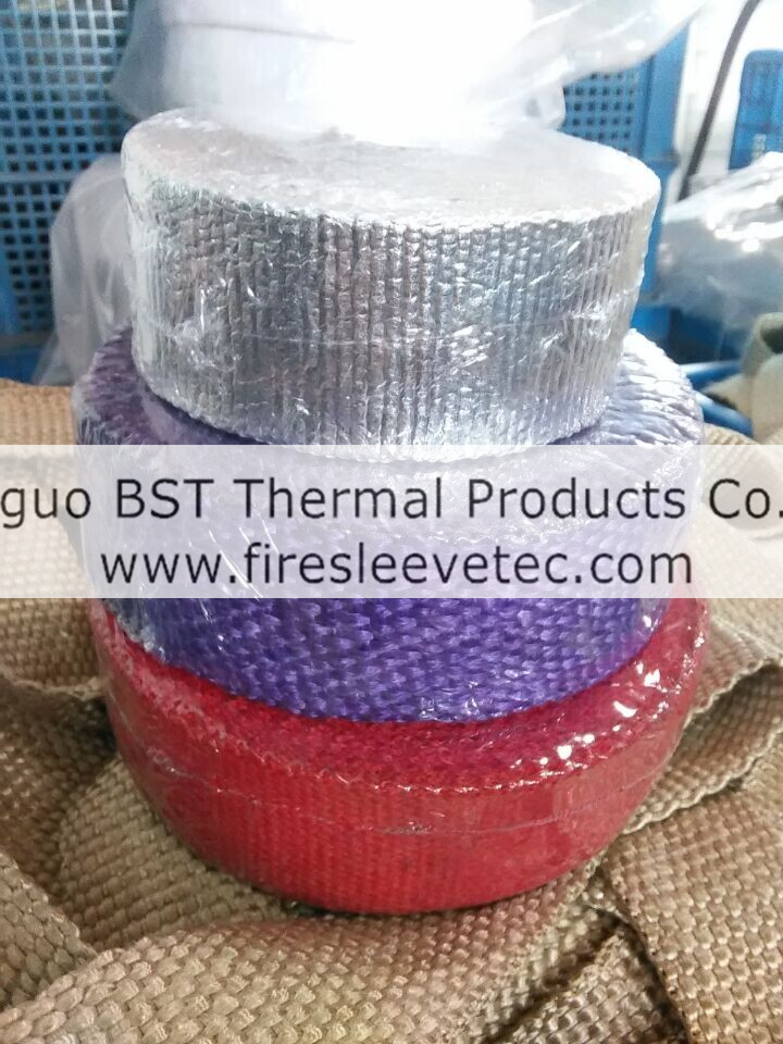 purple Fiberglass Exhaust Wrap