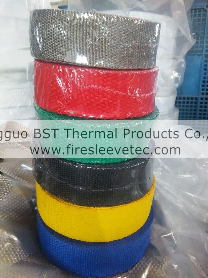 purple colored Exhaust Heat Wrap