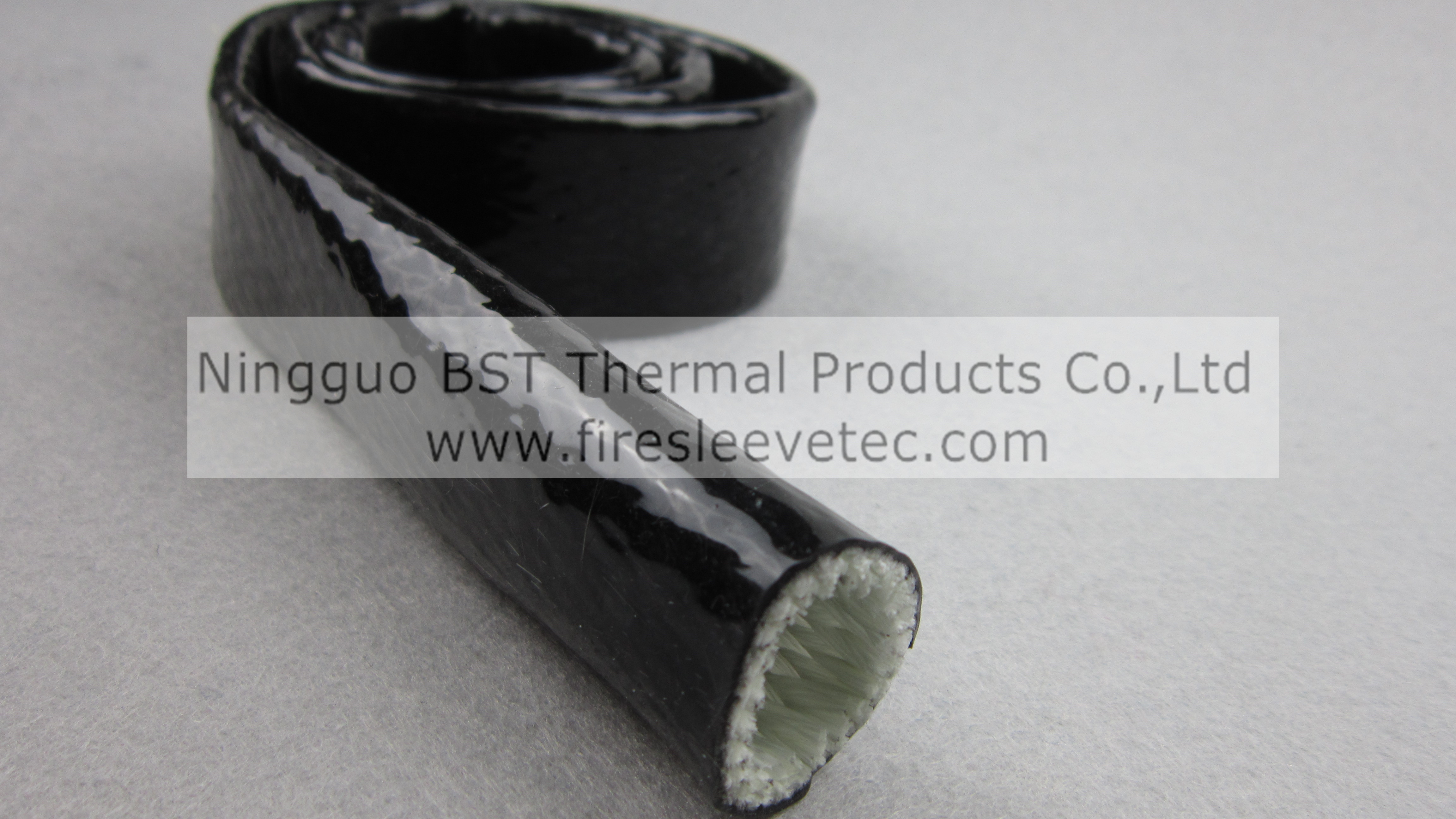Heat resistant silicone coated fiberglass sleeving