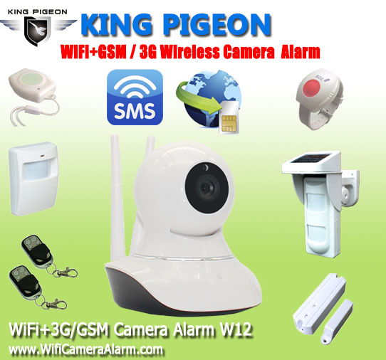W12 Wireless IP Camera with SMS Alarm