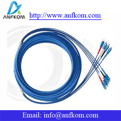 Armored optic fiber patchcord