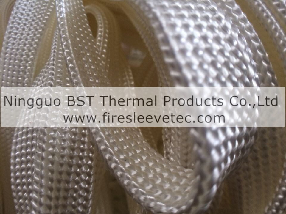 Texturized silica braided sleeve