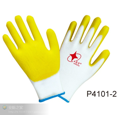 Labor protection rubber gloves