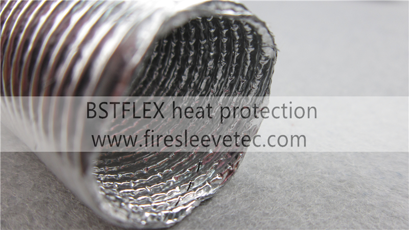 corrugated heat protection pipe