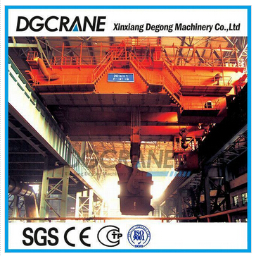 Heavy duty double girder foundry crane for steel plant