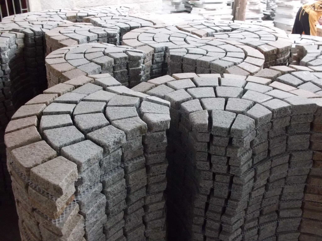 2015 China new hot selling cheap driveway Granite Mesh Back Stone Paving