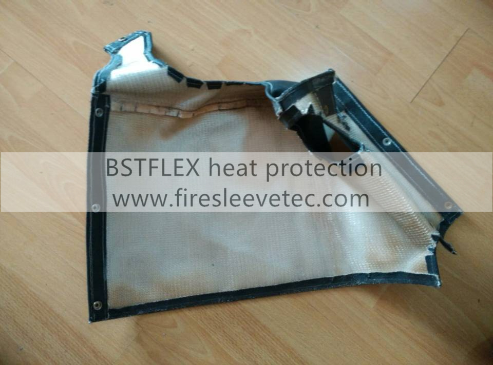 muffler heat shield blanket