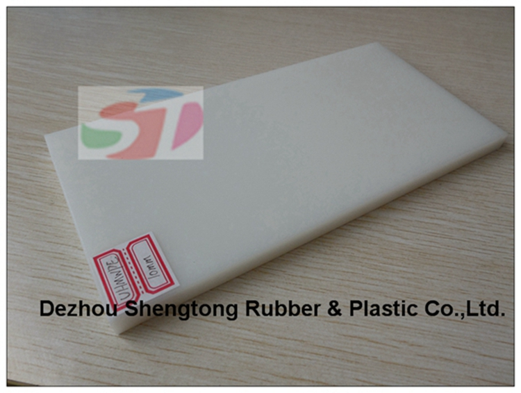 Smooth surface white plastic sheet with high performance