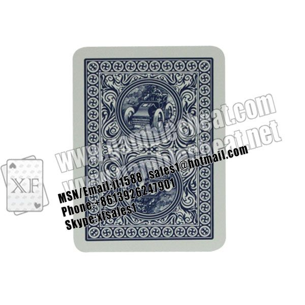 XF Modiano golden trophy marked cards with invisible ink for poker cheating