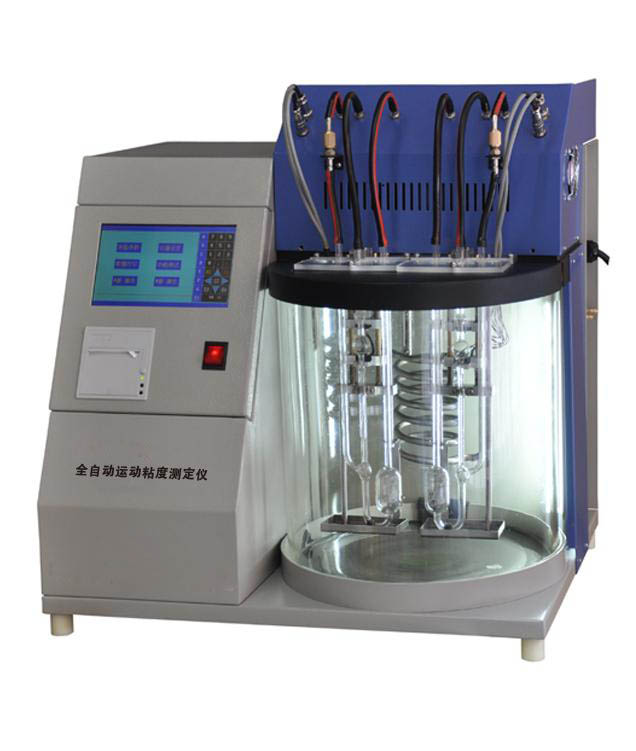 Automatic crude oil kinematic viscosity tester