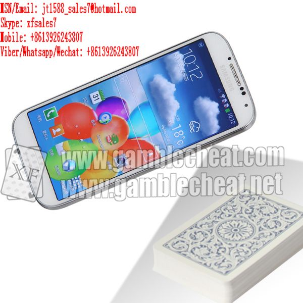 XF white color samsung S4 mobile phone camera for poker scanner