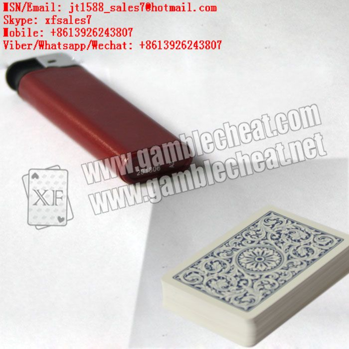 XF brand newest dark red plastic lighter IR camera for marked playing cards and poker analyzer