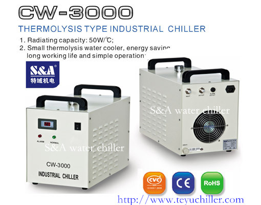 Compact recirculating chillers for 80W laser or 2*1.4kw CNC spindle