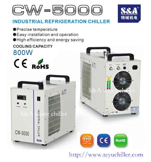Temperature controlled water chiller for lab equipment