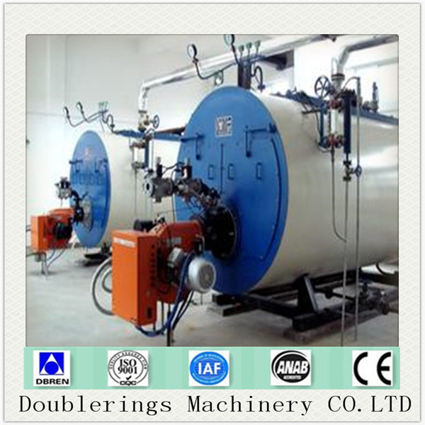 Natural gas fired commercial hot water boiler