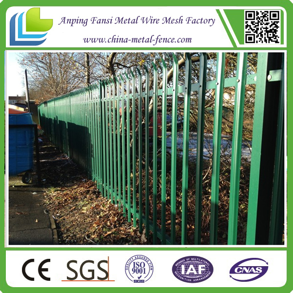 Used heavy duty powder coated steel security palisade fencing