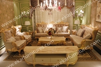 Antique Carved Rococo Style Sofa Fabric Price