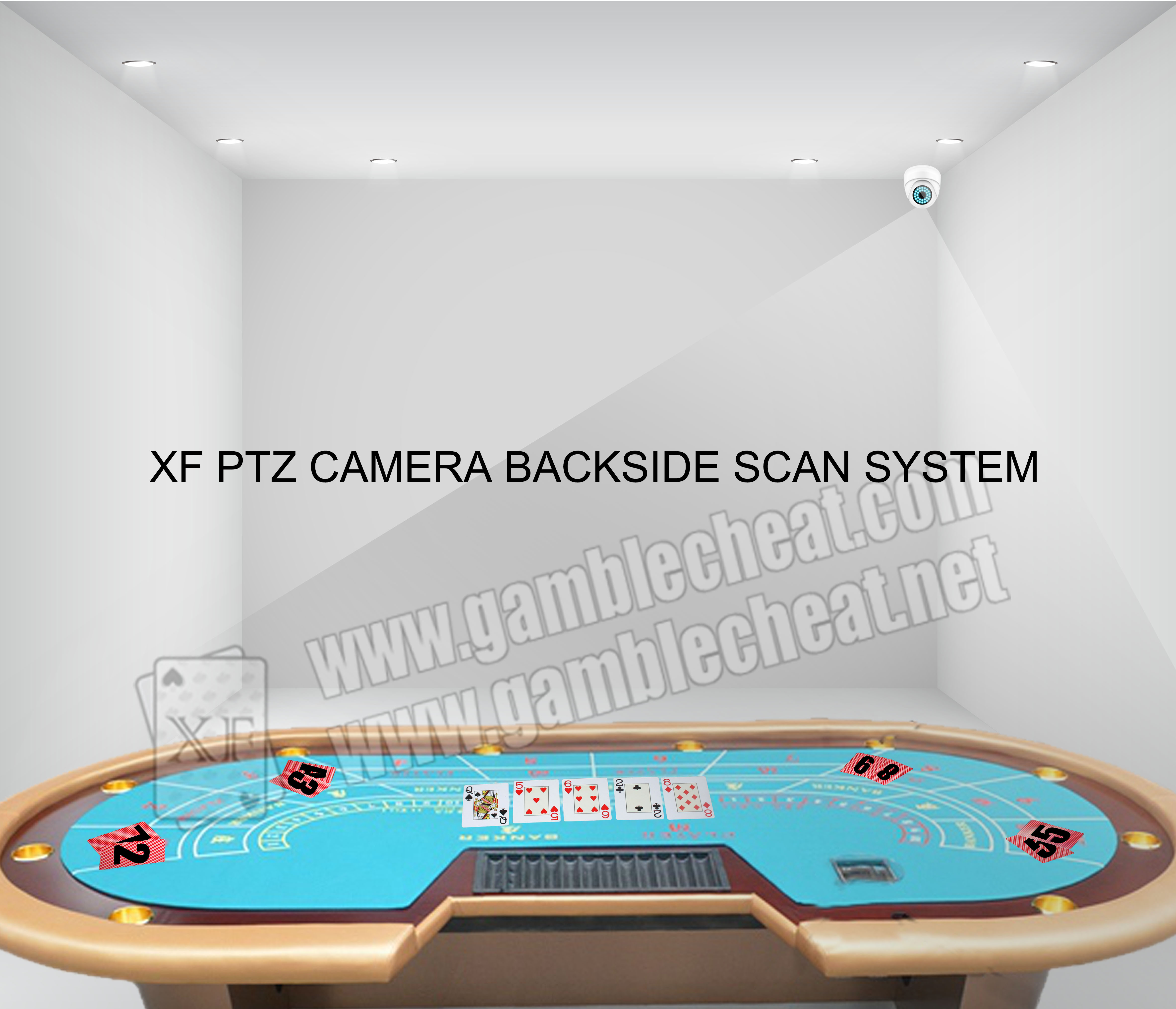 XF brand new PTZ backside marking camera for backside marking playing cards/ playing cards china / marked cards china / poker cheat / texas hold em cheat / omaha cheat / cheat in poker / cheat poker /
