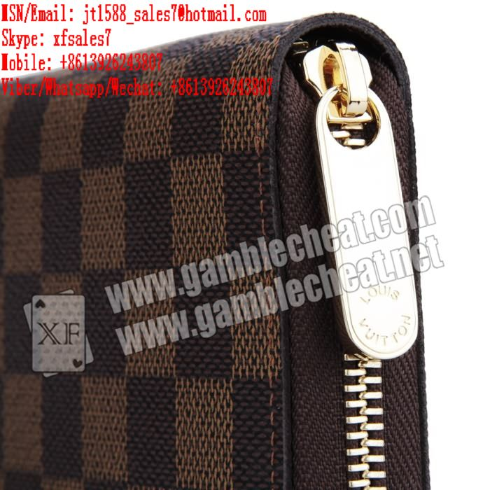 XF brand new LV wallet double camera for poker analyzer