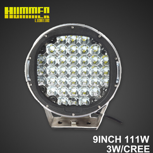 9inch 111W off road led Round work light for Vehicle 4X4, SUV ATV
