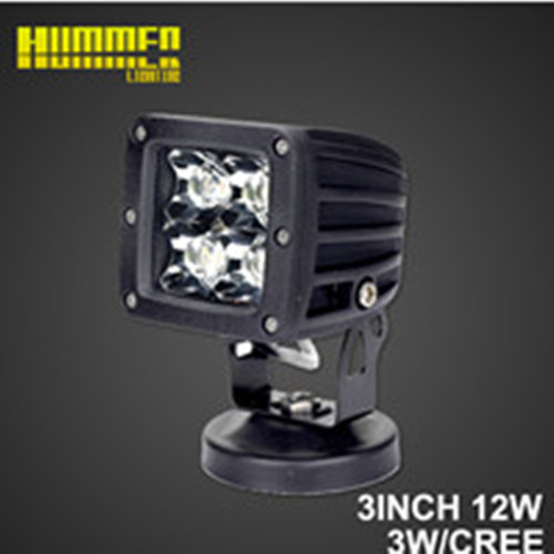 3inch 12W off road led work light for Jeep, 12W 950W led work light for Car