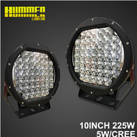 Super Brightness of led 10inch 225W led driving work light for Vehicle