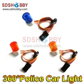 High Imitation RC 360 Degree Rotation Small Night Flash LED Light