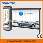 Parking advertising barrier