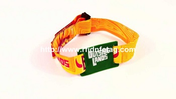 For festival events RFID smart woven wristband