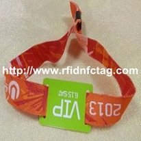 Cheap Custom Festival RFID Woven Fabric Wristband for Events