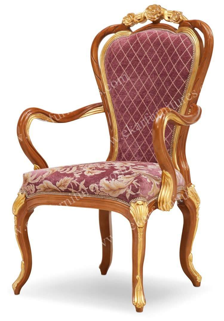 Carven head Armchair dining room chair wood dining chair in antique style - Carven Head Armchair Dining Room Chair Wood Dining Chair In