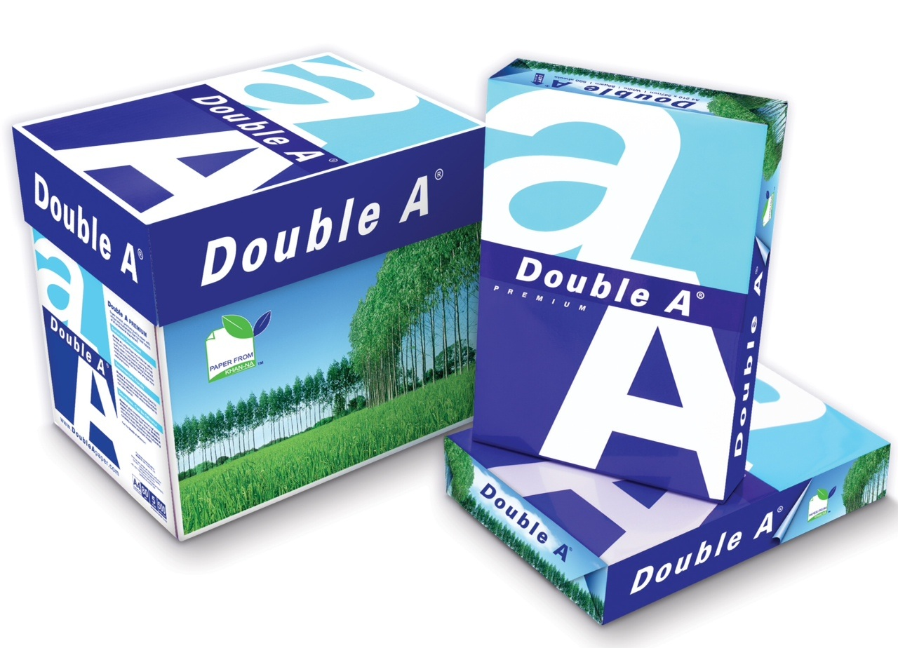 Double A Premium 100% Wood Pulp A4 Copier Paper 80 GSM