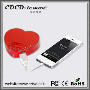 FYD-812 5200mAh heart shape power bank with creative and cute design