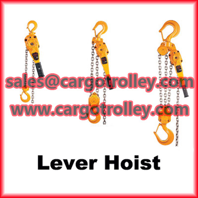 Lever chain hoist manual instruction